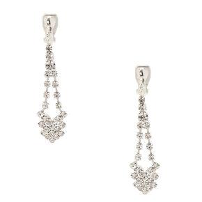 Crystal Clip On Drop Earrings,