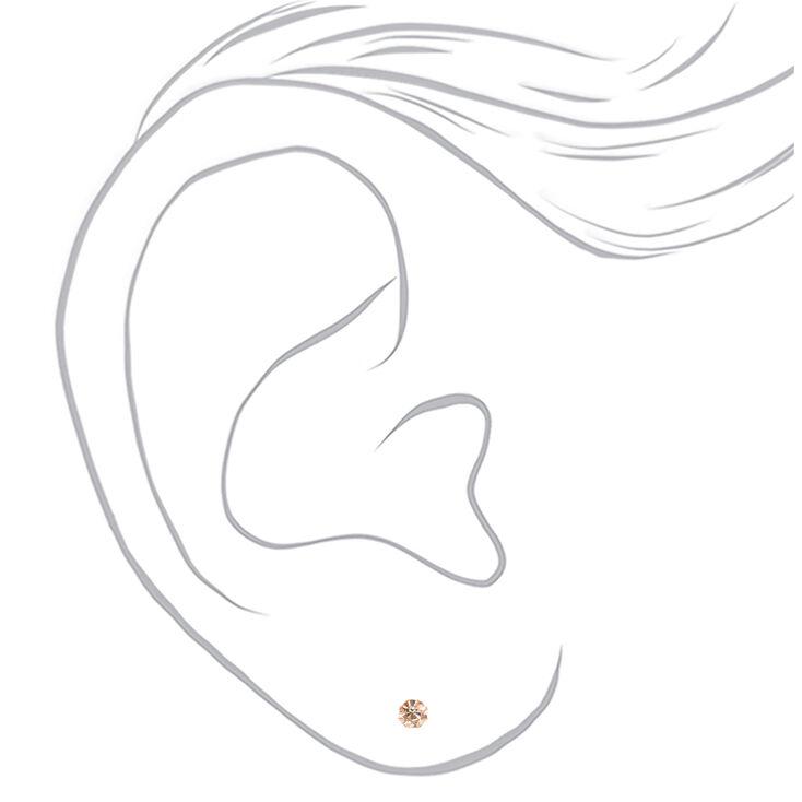 Mixed Metal 5MM Round Stud Earrings - 9 Pack,