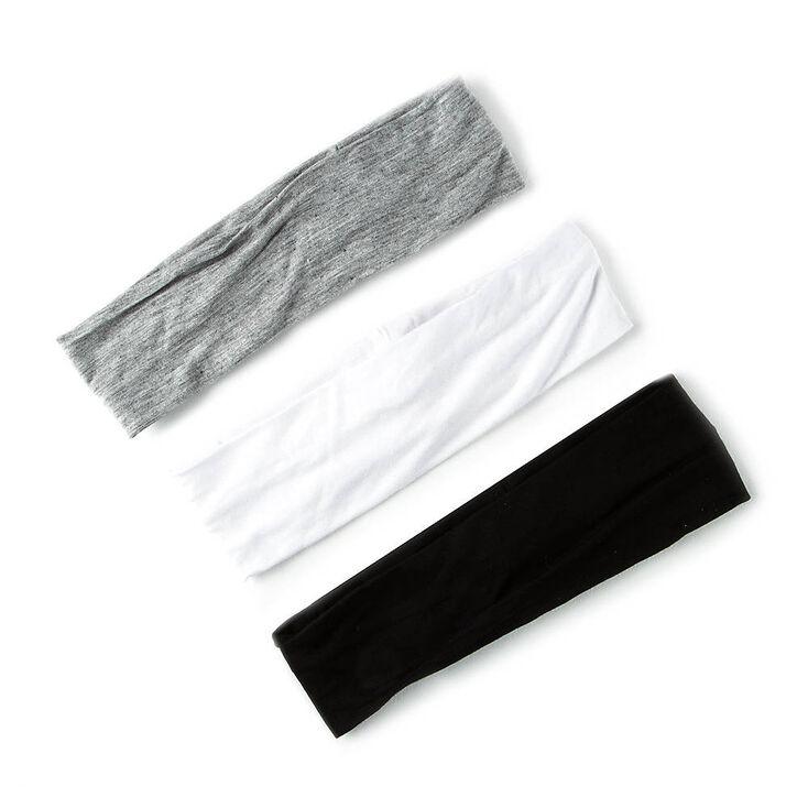 Black, White & Gray Jersey Head wraps,