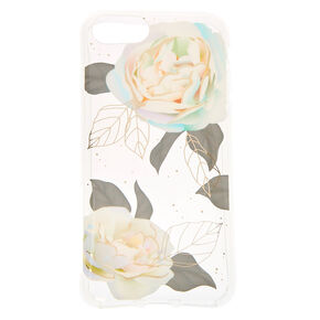 Pretty Pastel Rose Clear Protective Phone Case - Fits iPhone 6/7/8,