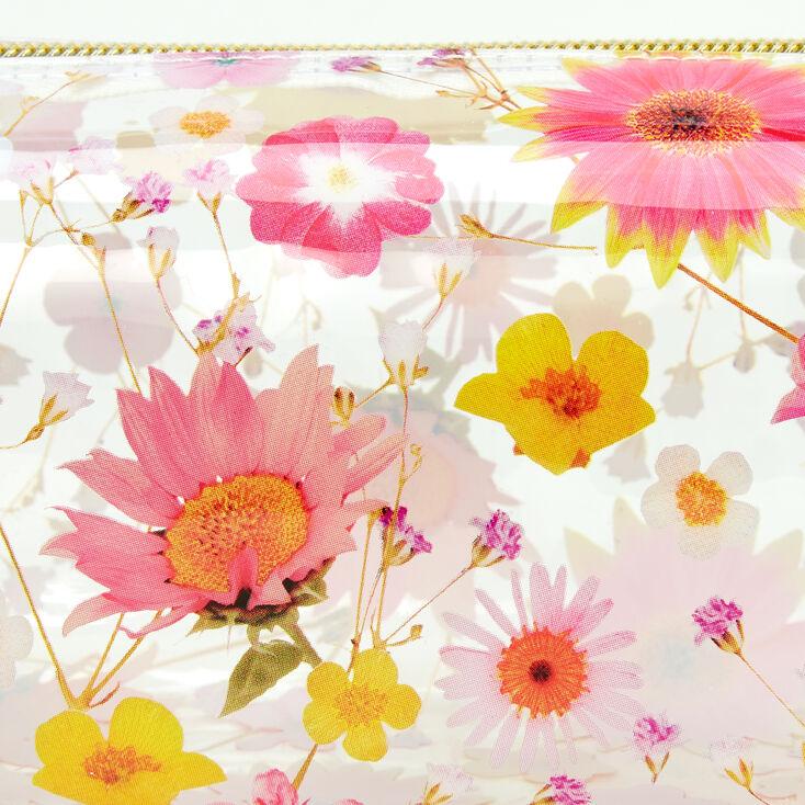 Pressed Flower Transparent Pencil Case,