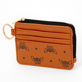 Love Angel Wings Coin Purse - Tan,