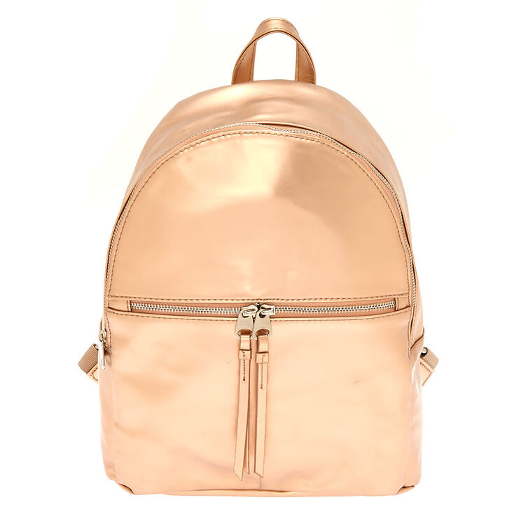 Matte Midi Backpack - Rose Gold,