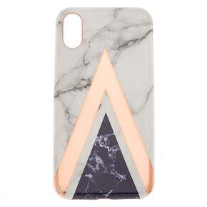 Geometric Marbled Phone Case - Fits iPhone X/XS,