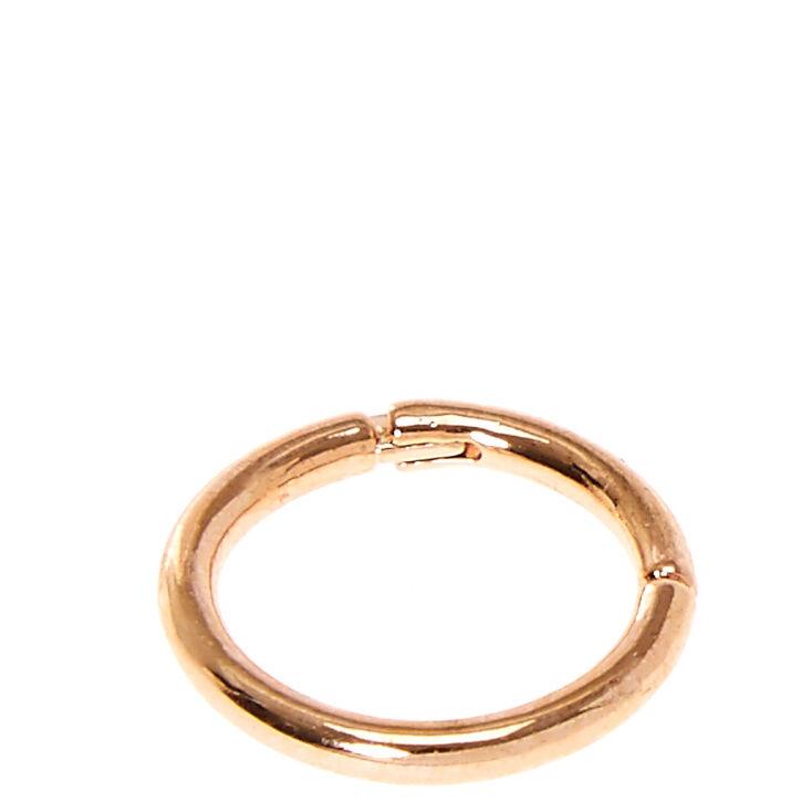 Rose Gold Toned Septum Ring,