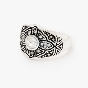 Silver Vintage Filigree Ring,