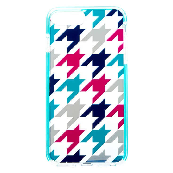 Houndstooth Clear Protective Phone Case - Fits iPhone 6/7/8 Plus,