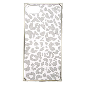 Silver Leopard Square Phone Case - Fits iPhone 6/7/8,