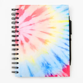 Rainbow Tie Dye Spiral Notebook,