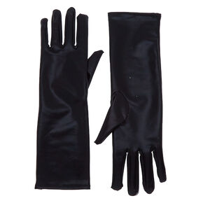 Faux Leather Gloves - Black,