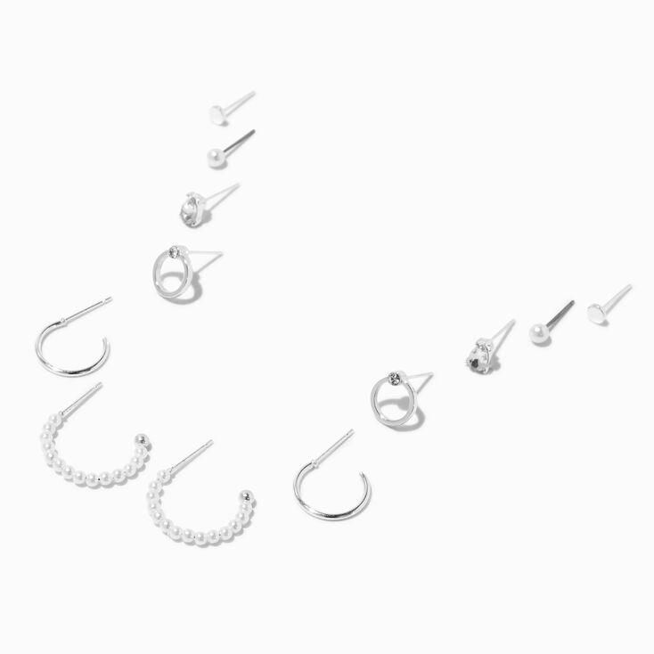 Gold 10MM Initial Huggie Hoop Earrings - D,
