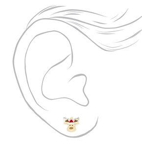 Sterling Silver Christmas Critter Stud Earrings - 3 Pack,
