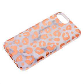 Rose Gold Leopard & Marble Protective Phone Case - Fits iPhone X/XS,
