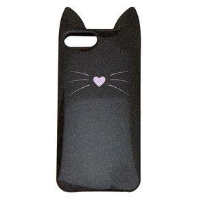 Black Cat Glitter Phone Case - Fits iPhone 6/7/8 Plus,