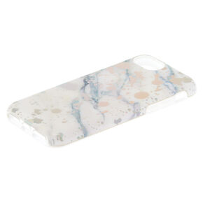 Marble Paint Splatter Protective Phone Case - Fits iPhone 6/7/8 Plus,