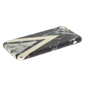 Black Geometric Marble Phone Case - Fits iPhone 6/7/8,