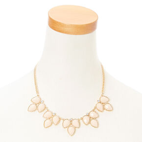 Ivory Leaf Necklace & Earring Set,