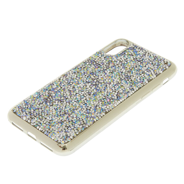 Iridescent Crushed Stone Phone Case - Fits iPhone X/XS,