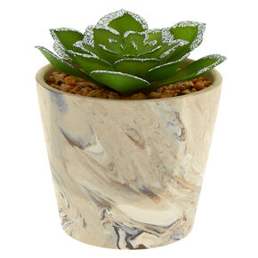 Marble Glitter Faux Succulent Plant - Gray,