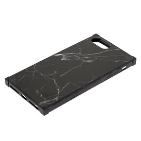 Black Marble Square Phone Case - Fits iPhone XS Max,