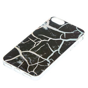 Black Cracked Marble Phone Case - Fits iPhone 6/7/8 Plus,