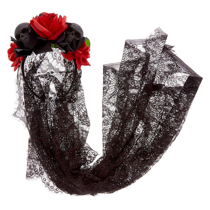 Day of the Dead Veil Headband,