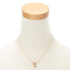 Gold Zodiac Pendant Necklace - Leo,