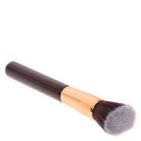 Black & Rose Gold Flat Kabuki Makeup Brush,