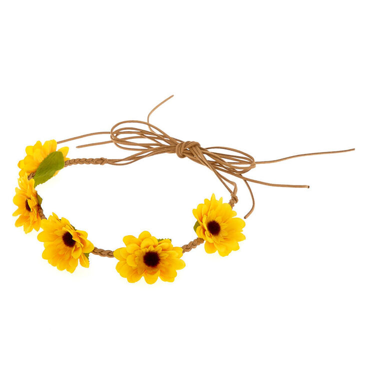 Sunflower Tie Headwrap - Yellow,