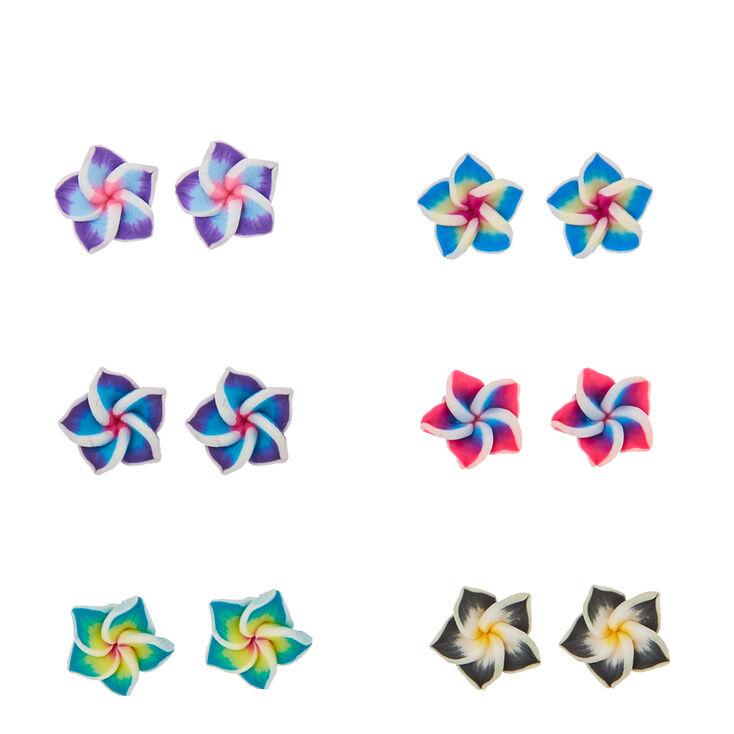 Hibiscus Flower Stud Earrings,