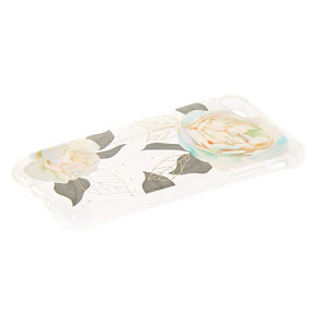 Pretty Pastel Rose Clear Protective Phone Case - Fits iPhone 6/7/8/SE,