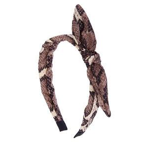 Snake Print Knotted Headband,
