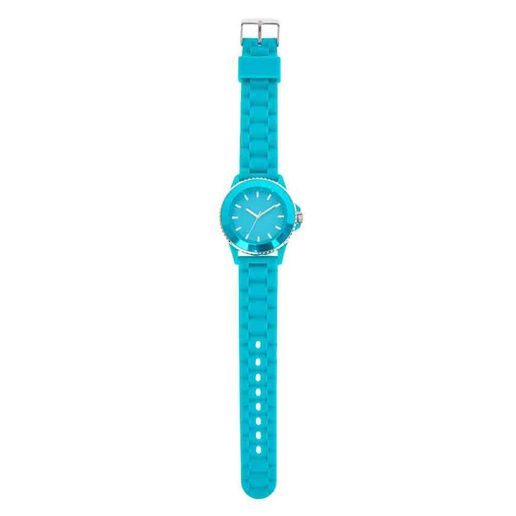 Turquoise Rubber Watch,