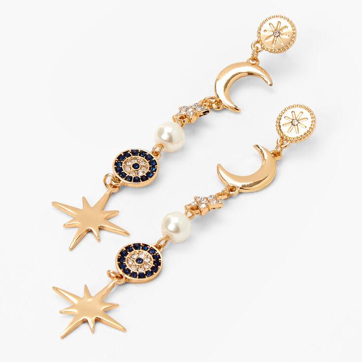 """2"""" Star Drop Earrings,"""