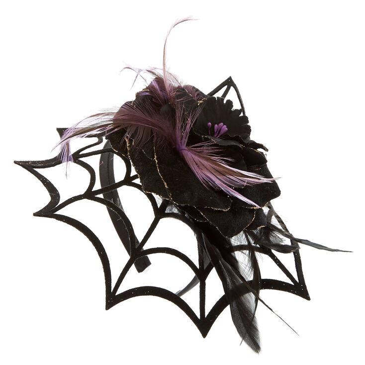 Spider Web Fascinator Headband,