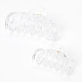 Spike Hair Claws - Clear, 2 Pack,
