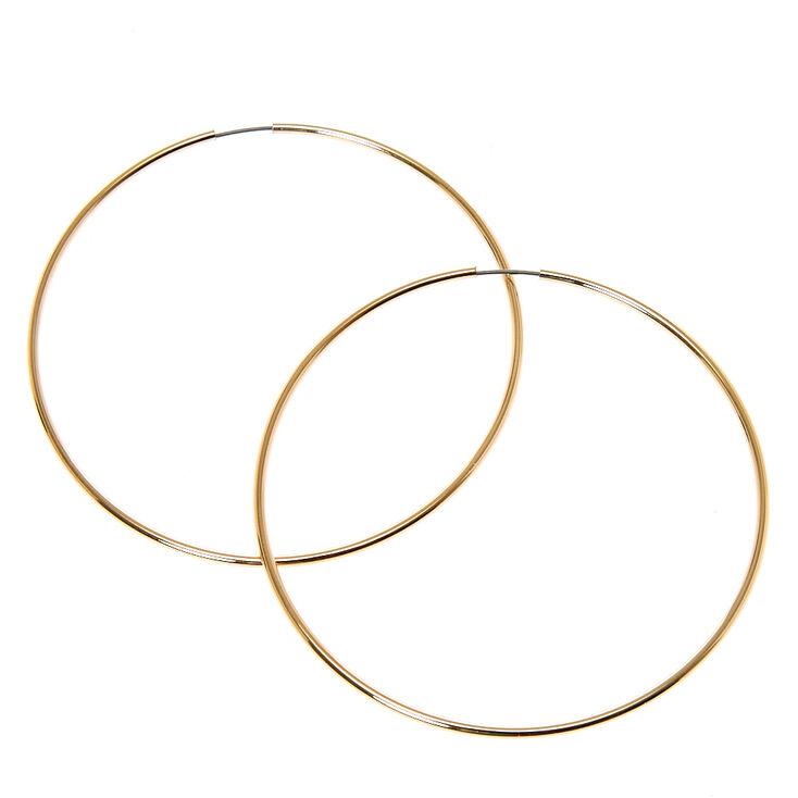 60MM Thin Gold Tone Hoop Earrings,