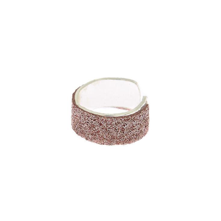 Rose Gold Glitter Ear Cuff,
