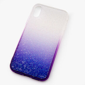 Purple Ombre Caviar Glitter Phone Case - Fits iPhone XR,