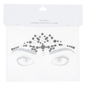 Forehead Bling Face Sticker - Black,