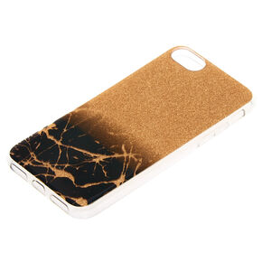 Black & Gold Cracked Marble Phone Case,