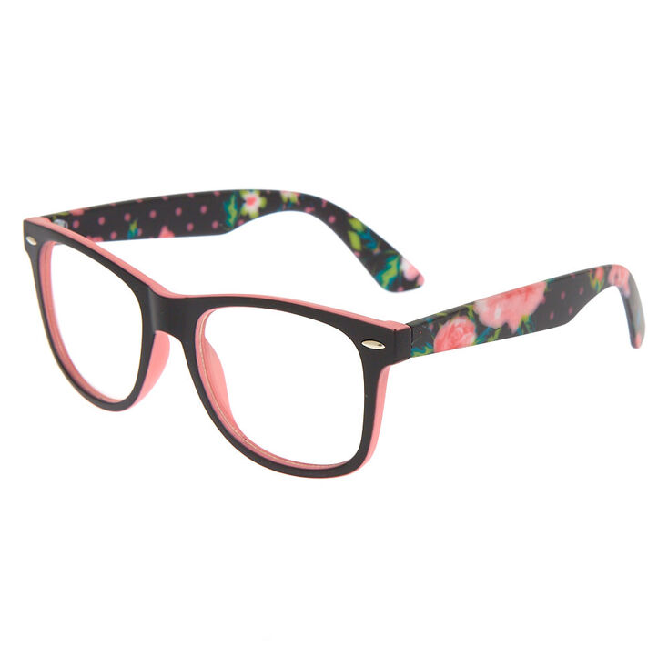 Retro Rubberized Floral Frames - Black,