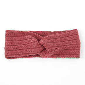 Sweater Twisted Headwrap - Dark Pink,