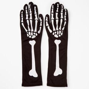 Skeleton Hand Arm Warmers - Black,