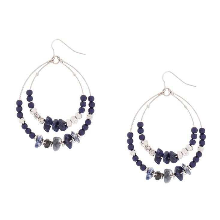 Semi-Precious Stone Drop Earrings,