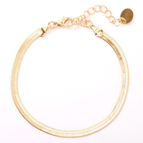 Gold Simple Sleek Chain Bracelet,
