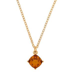 November Birthstone Pendant Necklace - Topaz,