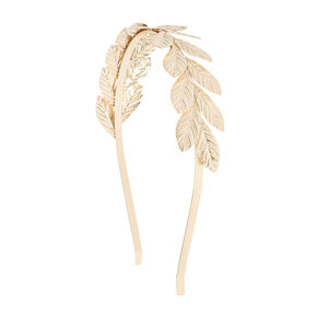 Gold Layered Leaves Headband,