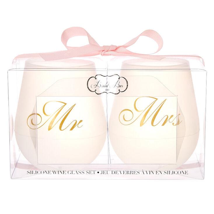 Mr. + Mrs. Silicone Wine Glass Set,