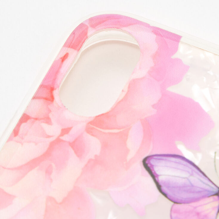 Butterfly Floral Protective Phone Case - Fits iPhone XR,